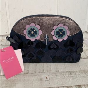 Nwt Kate spade dome zibbi owl cosmetic case